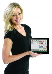 Restaurant POS iPad Running Digital Dining In The Hands of Server