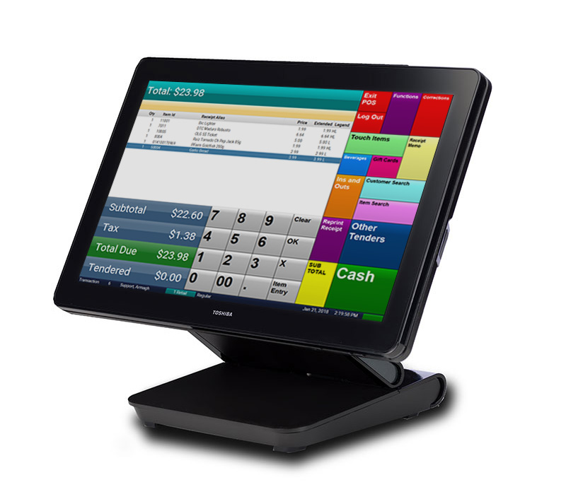 Toshiba TCx 800 POS All-In-One Touch Screen Terminal